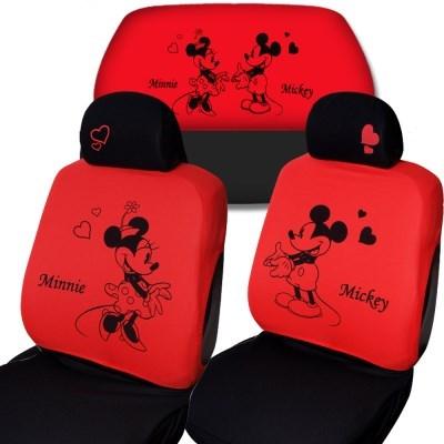 디즈니 미키마우스 패션 자동차시트커버 3P_레드