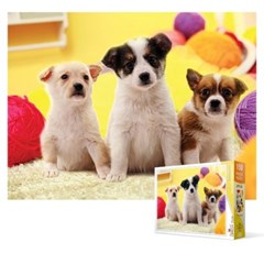 150피스 직소퍼즐 - 귀여운 아기 강아지들