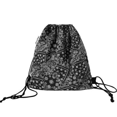 paisley string bag (black)
