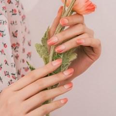 엣지유 샵젤 모모시럽 핑크블룸 붙이는 젤네일