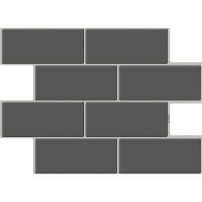 붙이는 우레탄 타일스티커 브릭 딥그레이 10개세트