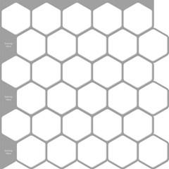 입체 우레탄 타일스티커 헥사곤 화이트 10개세트