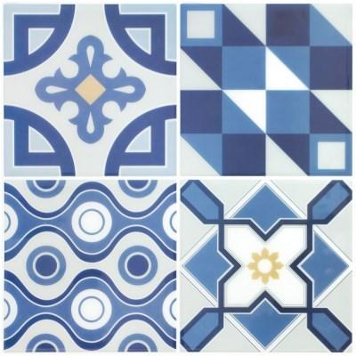 붙이는 우레탄 타일스티커 라누아 블루 10개세트