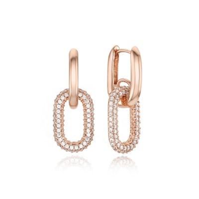 포인트 링크 체인 드롭 귀걸이 [CE0103BB]