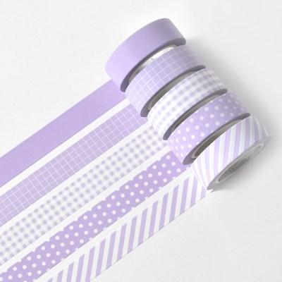 아르떼 마스킹테이프 파밀리에 5P SET - Lilac