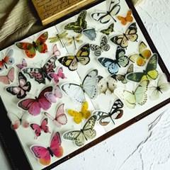 빈티지시리즈 01 나비 90조각 스티커팩