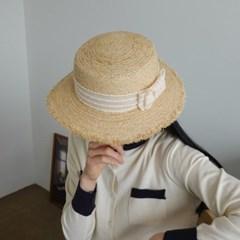 리본 라탄 챙넓은 데일리 꾸안꾸 중절모 페도라 모자