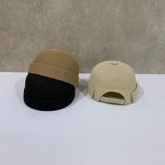 지사 기본 무지 심플 베이지 데일리 와치캡 비니 모자