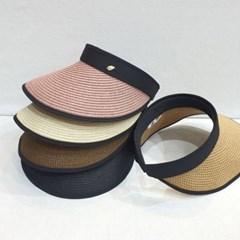 나뭇잎 검정띠 챙넓은 데일리 꾸안꾸 패션 썬캡 모자