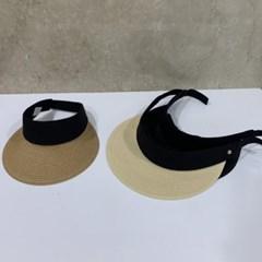 기본 심플 투톤 챙넓은 지사 데일리 패션 썬캡 모자