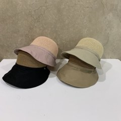 콤비 투톤 챙넓은 데일리 패션 버킷햇 벙거지 모자