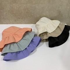 셔링 챙넓은 무지 기본 꾸안꾸 버킷햇 벙거지 모자
