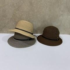 낙엽 라피아 챙넓은 데일리 패션 버킷햇 벙거지 모자