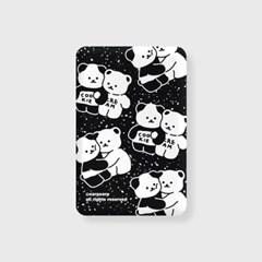 Cookie cream pattern-black(무선충전보조배터리)_(1894942)