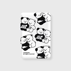 Cookie cream pattern-white(무선충전보조배터리)_(1894941)