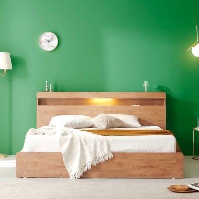 앨비스 LED 3단 수납 침대(매트제외-LK)