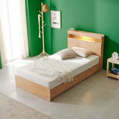 앨비스 LED 3단 수납 침대(매트제외-SS)