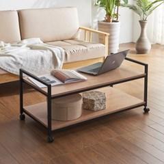플리드 스틸 이동식 소파 테이블
