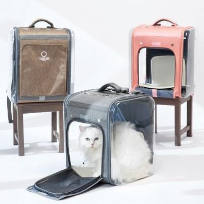 투명 강아지 고양이 백팩 확장형 폴더블 애견 캠핑 우주_(1825126)