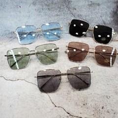 사각 가벼운 도수없는 골드 데일리 패션 선글라스