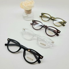 불테 동근 투명 그린 도수없는 가벼운 패션 안경
