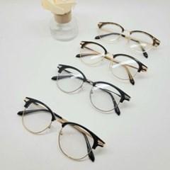반테 블랙 브라운 가벼운 도수없는 데일리 패션 안경