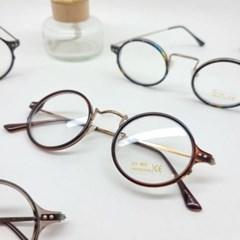동근 브라운 호피 데일리 도수없는 가벼운 패션 안경