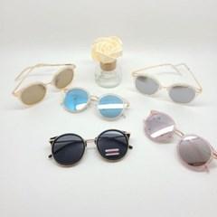 둥근 미러 블랙 핑크 가벼운 도수없는 패션 선글라스