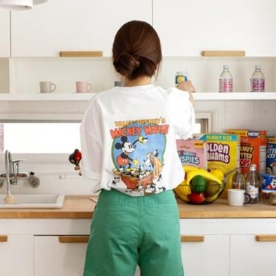 [디즈니] 퍼피 러브 티셔츠_미키&플루토