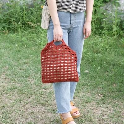 빈칸 네트백 - 여름 코바늘 가방 뜨기