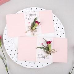 핑크카네이션 드라이플라워 용돈봉투