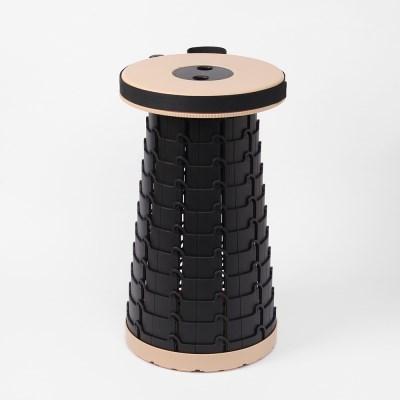 아코디언 접이식 휴대용 의자(베이지) 접이식스툴