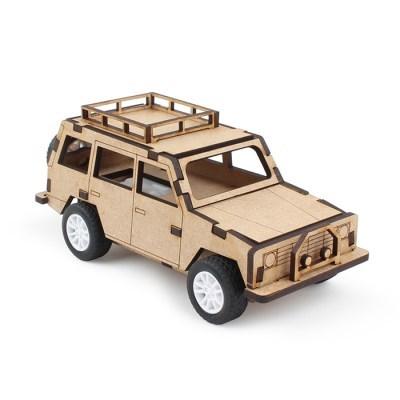 풀백 목재 입체퍼즐 - SUV 레저용
