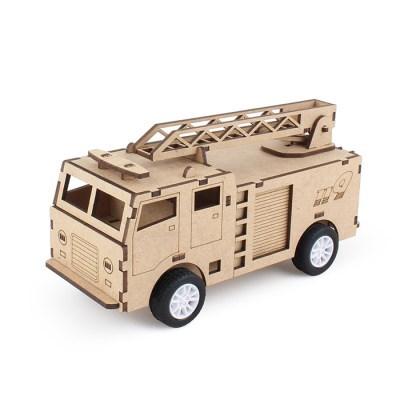 풀백 목재 입체퍼즐 - 119 소방차