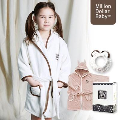 아기 목욕 가운 배스로브&클렌징밴드 선물세트 [밀리언달러베이비]