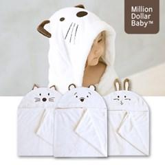 신생아 아기 목욕 후드타올 3종세트(비치타올) [밀리언달러베이비]