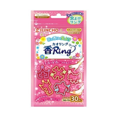 킨쵸 카오리링그 벌레퇴치 팔찌 핑크 꽃향 30개입_(1498304)