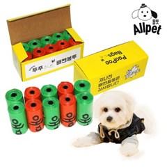 올펫 푸푸백 강아지 배변봉투 150매 (15매x10롤)