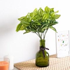 풍성한심플페페로미아부쉬 32cm 조화 녹색식물 FAIBFT