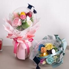 해피졸업꽃다발 35cmP 조화 축하 기념일 선물 FMBBFT