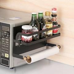 OMT 무타공 철재 1단 주방수납 냉장고 자석선반 거실 욕실 활용