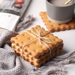 비스킷 과자 모양 커피 머그잔 패드 커피잔 받침 매트
