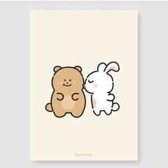 토끼는곰을좋아해 A3 포스터
