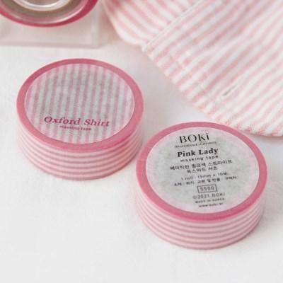 Oxford Shirt Masking Tape [Pink Lady]