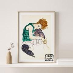 전시회 포스터 그림 액자 에곤쉴레 와이프
