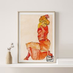 전시회 포스터 그림 액자 에곤쉴레 모델