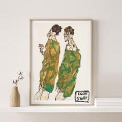 전시회 포스터 그림 액자 에곤쉴레 디보션