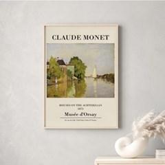 전시회 포스터 그림 액자 클로드모네 리버