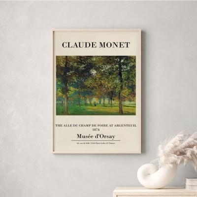 전시회 포스터 그림 액자 클로드모네 공원