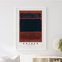 전시회 포스터 그림 액자 마크로스코 블랙터치